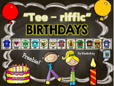 """Tee-riffic""  Birthdays Graphing FREEBIE"
