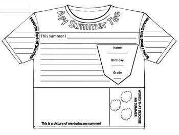 Tee-rrific Summer Craftivity for Back to School