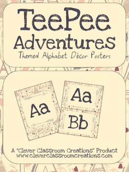 TeePee Adventures Alphabet/Word Wall Posters