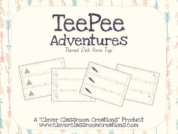 TeePee Adventures Desk Name Plates