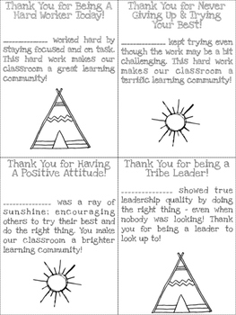 TeePee Adventures Notes Home/Communication Slips
