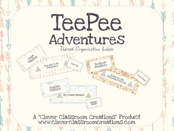 TeePee Adventures Organization Labels
