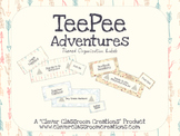TeePee Adventures Organization Labels