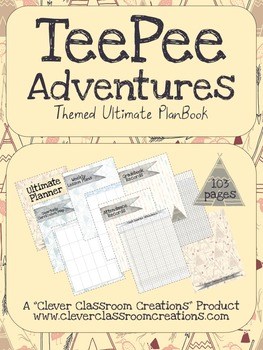 TeePee Adventures Ultimate PlanBook