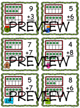 Teen Addition and Subtraction with Ten Frames ~ Holiday Edition ~ BUNDLE