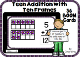 Teen Addition with Ten Frames ~ Spring Edition ~ BOOM Card