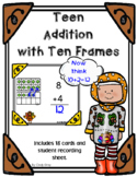 Teen Addition with Ten Frames ~ Thanksgiving Themed