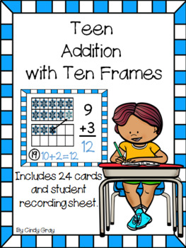 Teen Addition with Ten Frames ~ Winter Edition