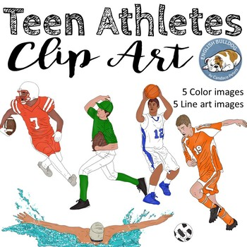 Teen Athletes Clip Art Set--Boys