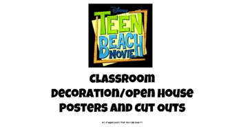 Teen Beach Movie Classroom Decoration/Open House Posters and Cut Outs