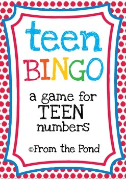 Teen Numbers Game - A Printable Activity for Numeral Identification