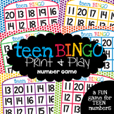Teen Numbers Game - A Printable Activity for Numeral Ident