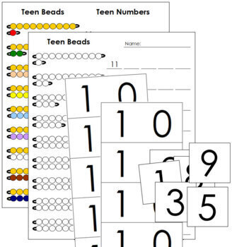 Teen Boards, Beads, and Worksheets - Montessori