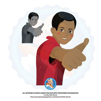Teen Boy | Middle School Kids | African American| Showing Thumbs Up