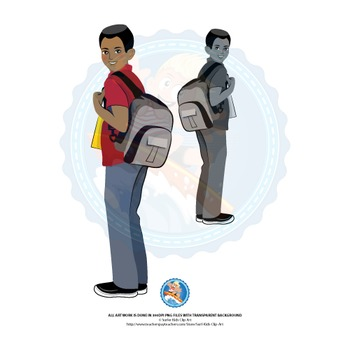 Teen Boy | Middle School Kids | African American | With School Bag