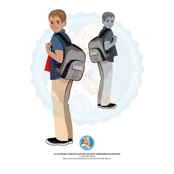 Teen Boy | Middle School Kids | European | With School Bag