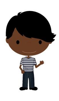 Teen Boys Freebie - Multi-Cultural Teen Clip Art