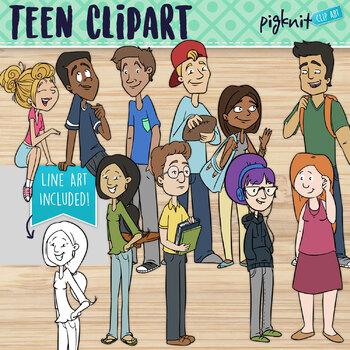 Teen Kids Clip Art   Older High School Kids   Teenager Students