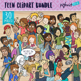 Teen Clipart BUNDLE of 30 High School Students