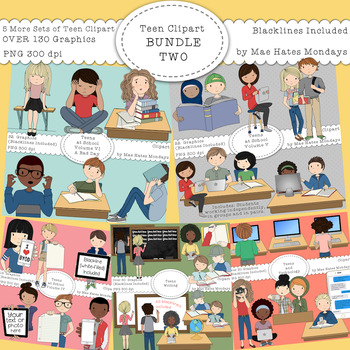 Teen Clipart Bundle TWO