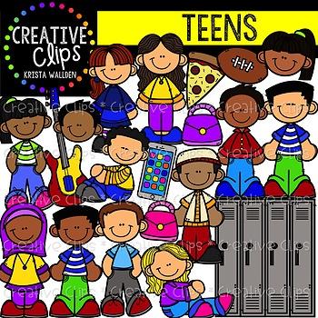 Teen Clipart {Creative Clips Clipart}