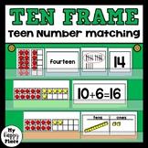 Teen Numbers Ten Frame Matching Center