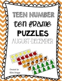 Teen Frame Number Puzzles {Summer/Fall}