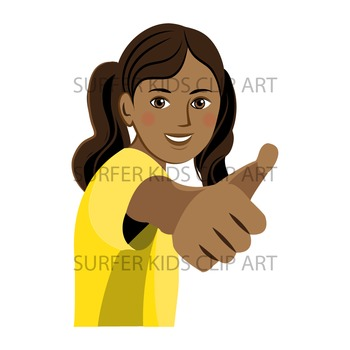 Teen Girl | Middle School Kids | African American | Showing Thumbs Up