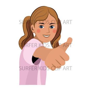 Teen Girl | Middle School Kids | European | Showing Thumbs Up