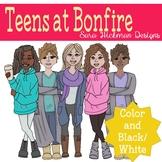 Teen Girls Clipart Set