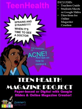 Teen Health Magazine Project for Human Body Systems