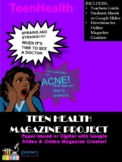 Teen Health Magazine Project for Human Body Systems (Dista