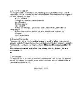 Teen Issues Project with rubric