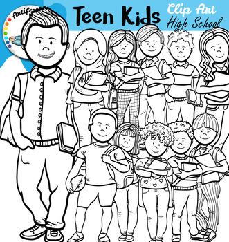 Teen Kids Clip Art High School