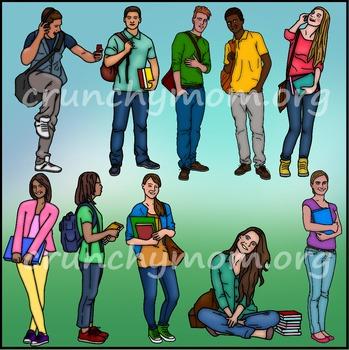 Teen Kids Clip Art High School Kids Clip Art