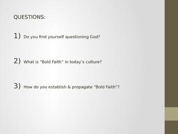 Teen Leadership - Bold Faith & Momentous Legacy (PwPt Slides)