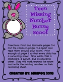 Teen Missing Number Spring Bunny Scoot