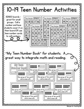 Teen Number Activities