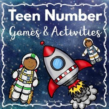 Kindergarten - Special Education- Teen Number Activities-Space theme