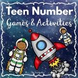 Kindergarten - Special Education- Teen Number Games & Activities-Space theme