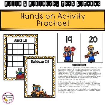 Teen Number Game Activity Build and Bulldoze