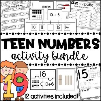Teen Numbers -  Activity Bundle