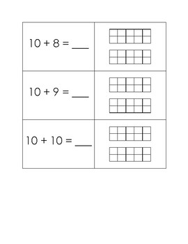 Teen Number Addition