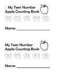 Teen Number Apple Counting Booklet
