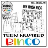 Teen Number Bingo + Assessment Data Sheet