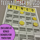 Teen Number Bingo