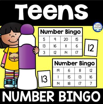 Teen Number Bingo {Black Ink Only}