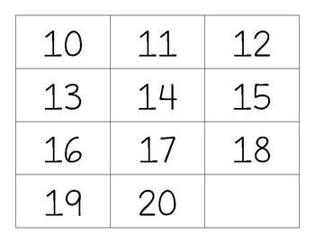 Teen Number Bingo - iPad Theme