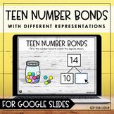 Teen Number Bonds for Google Slides | Distance Learning