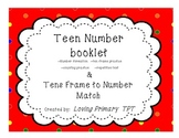 Teen Number Booklet and Match-It activities